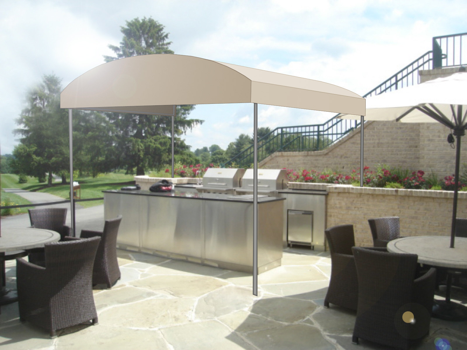 Patio Free Standing Canopy