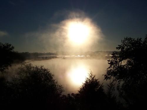morning usa lake fog marina sunrise landscape unitedstates kodak kansascity missouri boatdock longviewlake