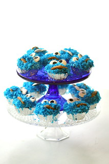 Cookie Monster Cupcakes | by the other tiger