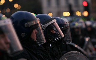 Police in riot gear - Parliament Square and Westminster Bridge London | by bobaliciouslondon