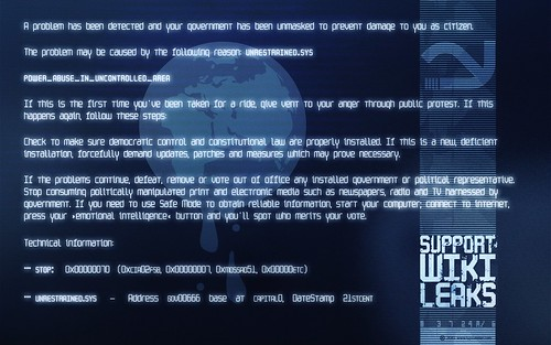 WikiLeaks ☛ »The Blue Screen Of Death« (for widescreen displays)