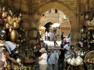 Brass and silver lamps of all shapes and sizes at Khan el-Khalili, Cairo's main market. | by annemarieangelo