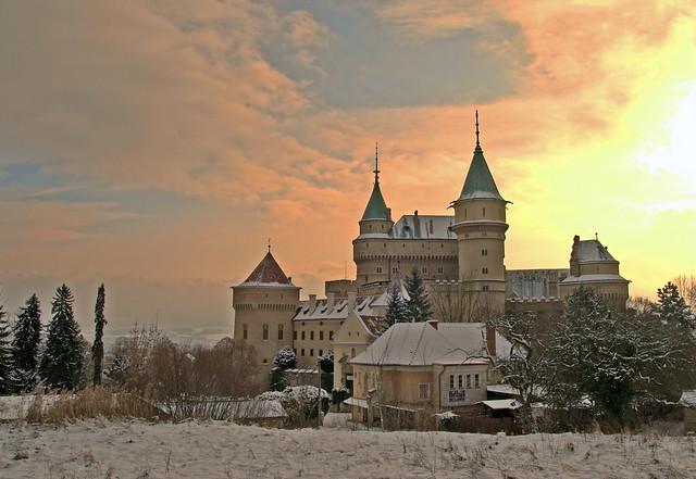 Bojnice Castle Winter Sun (HDR)
