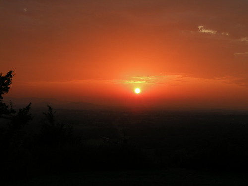light sunset orange sun mountains color colors evening hills arkansas ozarks