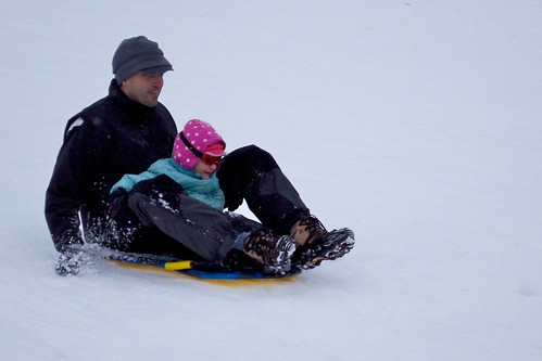 Sledding in the Common | by hynkle