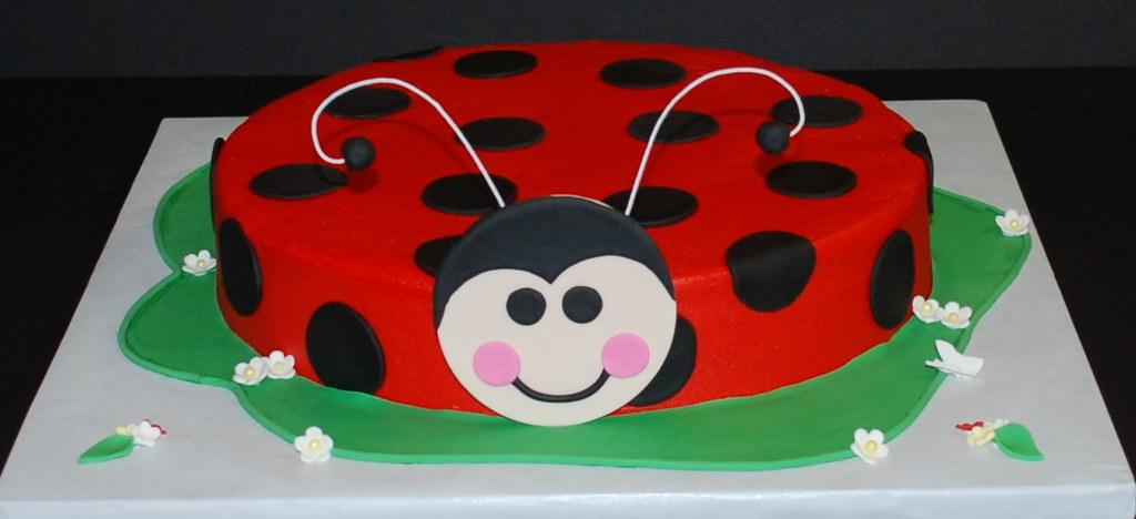Incredible Ladybug Birthday Cake Ladybug Cake For A 2Nd Birthday 10 Flickr Personalised Birthday Cards Veneteletsinfo