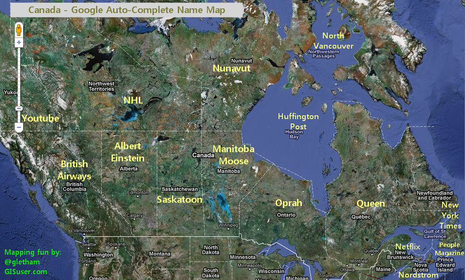 Complete Map Of Canada.Canada According To Google Auto Complete A Little Mapping Flickr