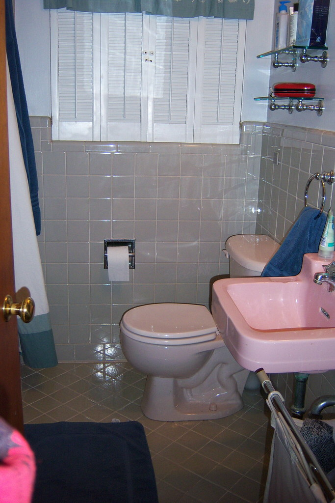 Our cramped bathroom