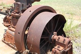 "Petters 36HP Engine - ""It had a huge fly wheel"" (Bill Durack)"