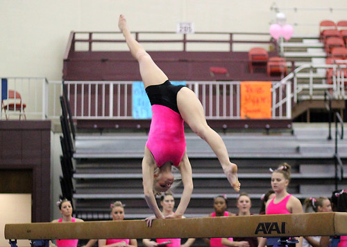 TWU Gymnastics Beam - Brittany Johnson | by Erin Costa