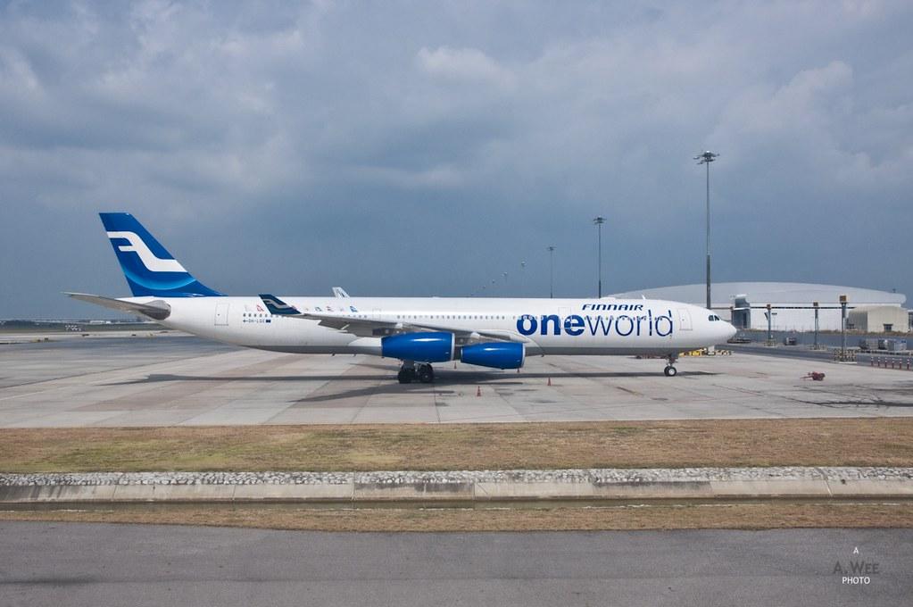 Finnair A340 at Bangkok