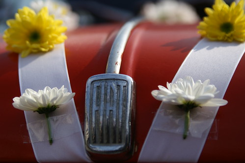 fiat 500 in the wedding