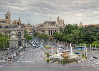 Plaza De Cibeles Madrid Spain Hdr Hdr From Five Bracke Flickr