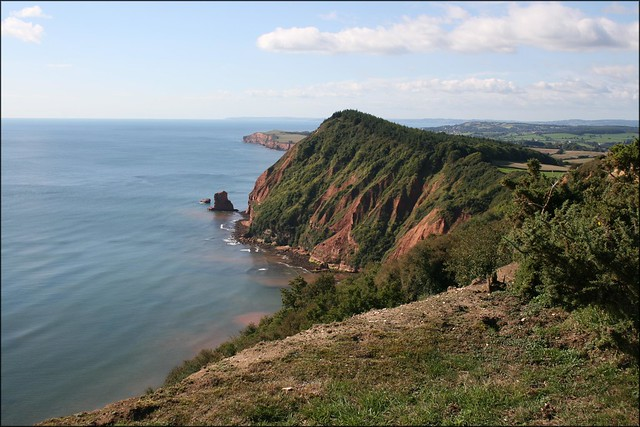 The coast east of Sidmouth