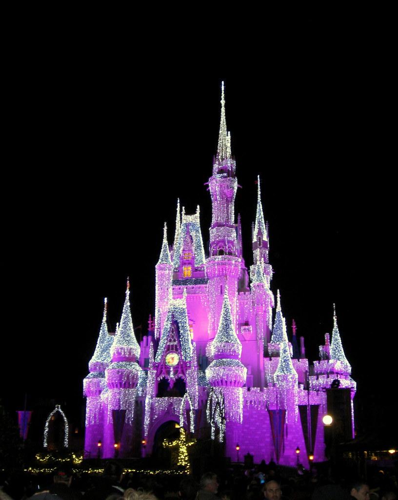 Cinderella Castle Christmas Lights.Magic Kingdom Cinderella Castle Christmas Icicle Light