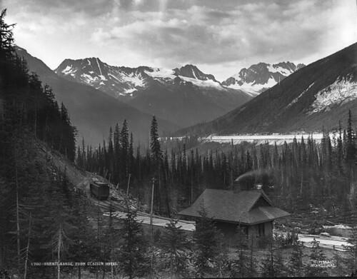 Hermit Range from Glacier Hotel, BC, 1887