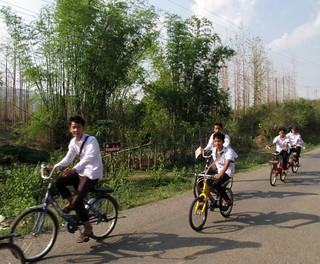 Kuangsi Waterfall to Luang Prabang Moto Ride - Laos Schoolkids | by FollowOurFootsteps