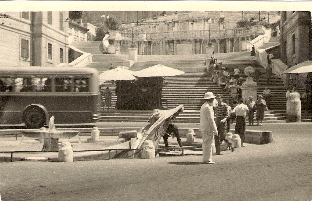 Spanish Steps  Rome, August 1956 | Photographed by my father