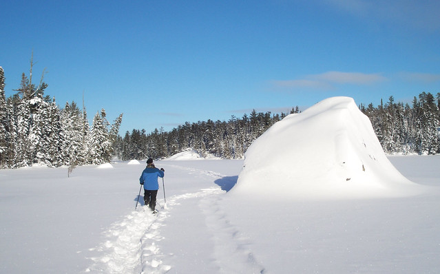 Snowy Boulder
