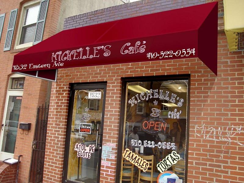 Awning Rendering Cafe Awning Baltimore