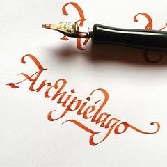 Una buena palabra para caligrafiar. #caligrafia #calligraphy #lettering #typedesign #chile #chiloe