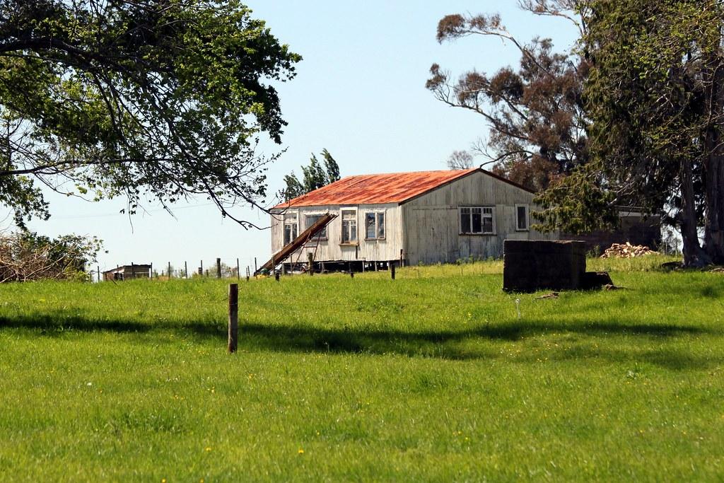 Old house, Ohaupo, Waikato, New Zealand