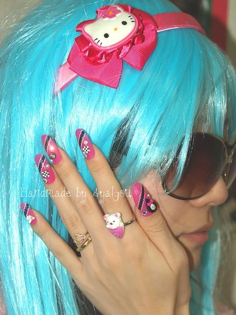 Japanese gyaru style nail art