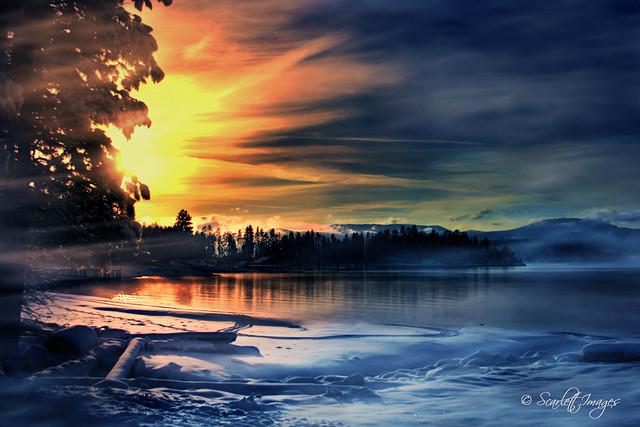 Sunset on Lake Pend Oreille
