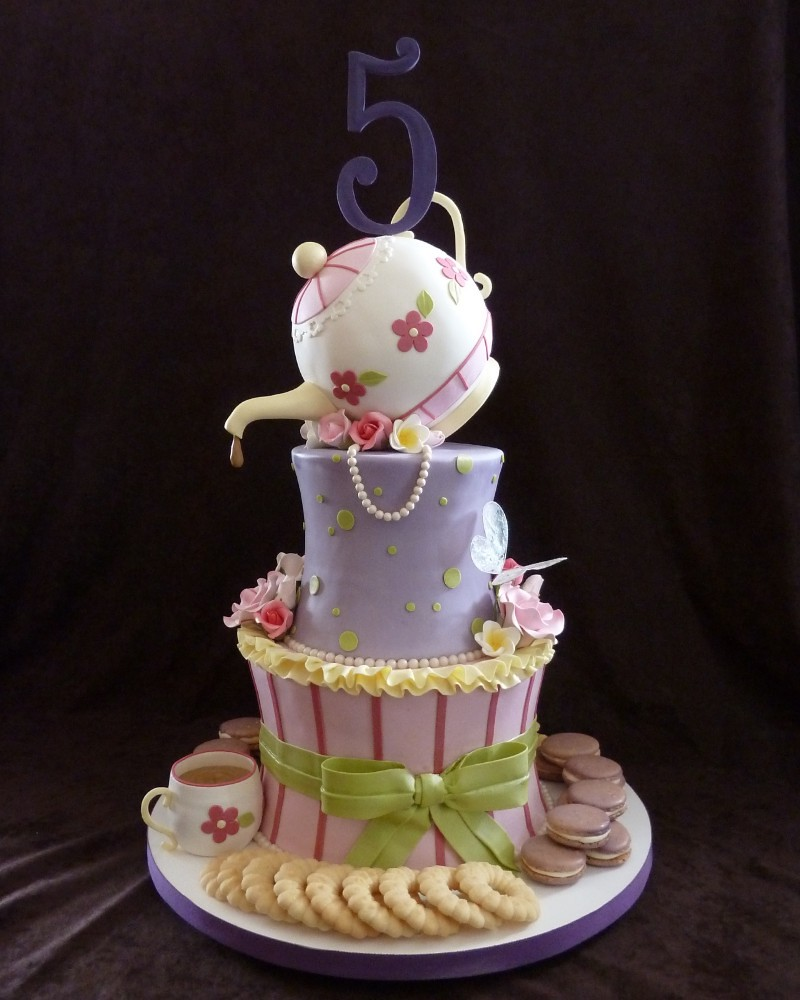 Nancy Tea Party Birthday Cake