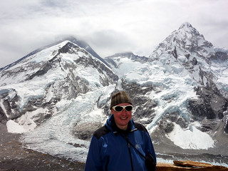 Me with the Khumbu Icefall and Western Cwm behind | by markhorrell
