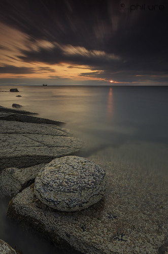 longexposure sea sky seascape water sunrise canon dawn coast rocks waves northumberland le northsea northeast whitleybay waterscape oldhartley leefilters canon6d littlestopper