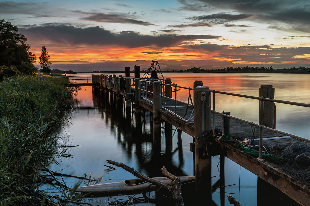 Sunset over the Hunter River