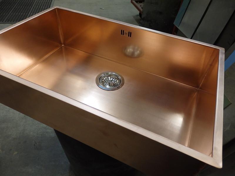 136 - Bespoke Copper Sink
