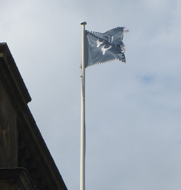 Les armes de Devonshire, Chatsworth House (fin XVIIe), Bakewell, Derbyshire, Angleterre, Grande-Bretagne, Royaume-Uni.