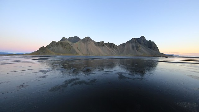 Vestrahorn, a Video of a windy morning in Iceland