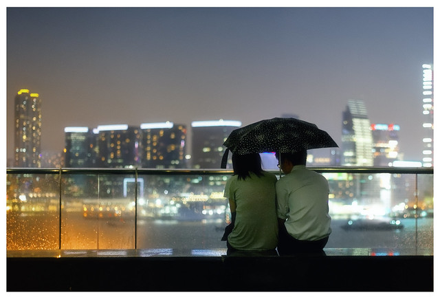 Hong Kong Harbour IX (umbrella of love)