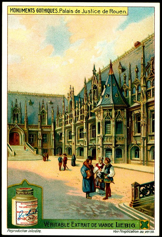 Liebig S1051 Gothic Buildings ~ Justice Courts of Rouen