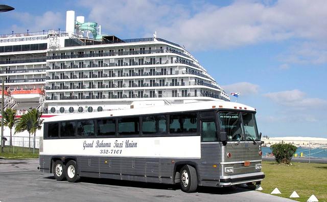 Grand Bahama Taxi Union 69 MCI MC-12 at Freeport Cruise