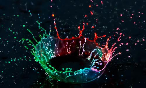 food art water colors speed high corona coloring droplet crown splash