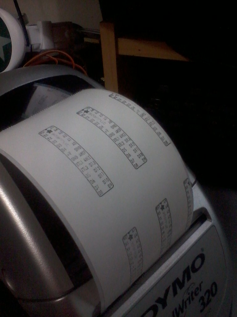 Arduino labels on the dymo label printer | Richard Malcolm-Smith