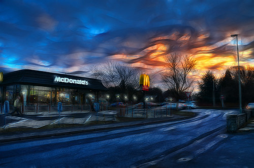 breakfast sunrise ben you gloucestershire mcdonalds stuff gloucester hdr neatimage photomatix 18200vr labcolour nationaldiet 3raws fractalius topazclean