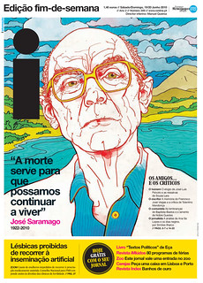 Front Page: Saramago Death