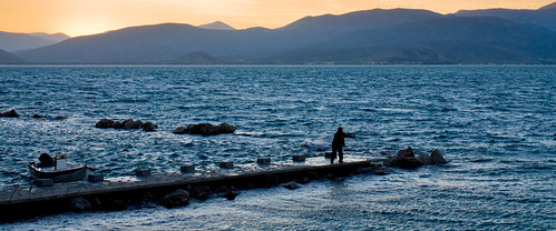 sunset fisherman greece ηλιοβασίλεμα nayplio ελλάδα ναύπλιο ψαράσ