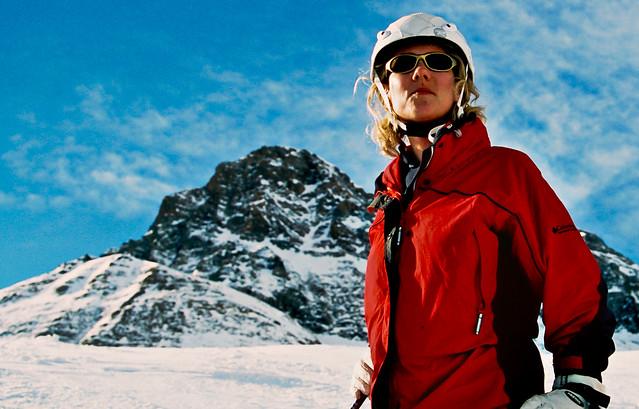 Mathilda goes skiing
