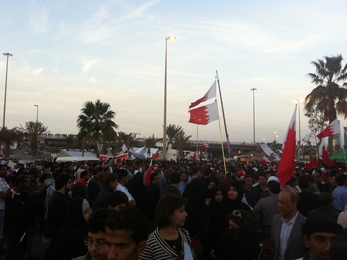 Protest at Pearl Roundabout | by malyousif