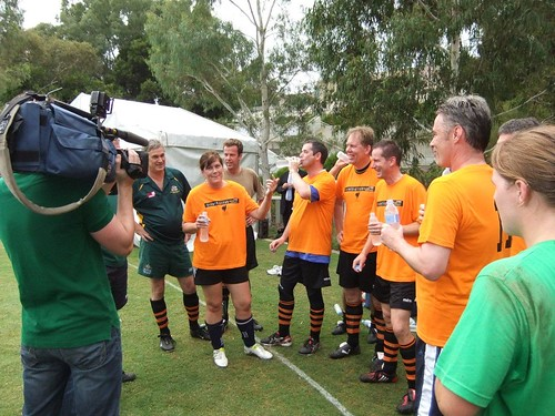Harmony Day Pollies vs Professionals soccer match 28th February 2011