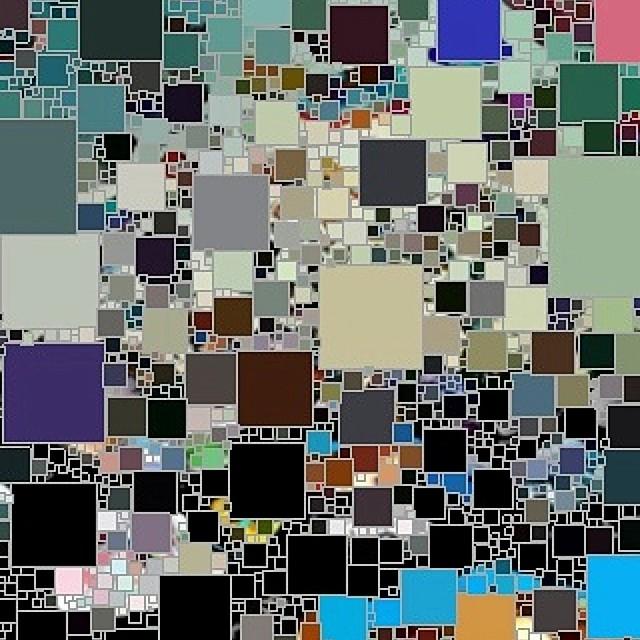 Cubism C Multicolored Square Biz No. One