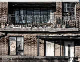 Abandoned Portsmouth - Overgrown Plant pots on the balcony | by Hexagoneye Photography