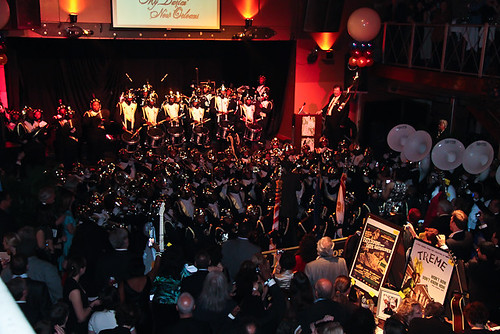 The Roots of Music Marching Crusaders literally filled the hall with their sound and their exuberance.