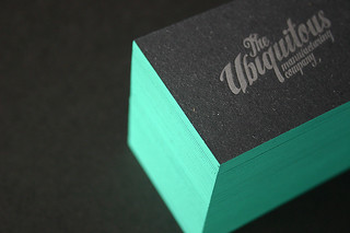 1mm edge painted letterpress cards | by UbiquitousMfg